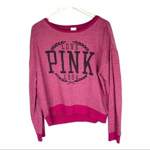 VICTORIA'S SECRET PINK OVERSIZED SWEATER